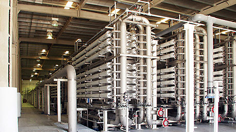 Reverse osmosis stage in a desalination plant