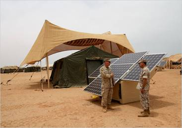 Solar Panels at Work in Afghanistan