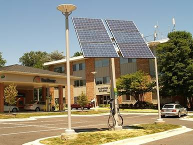 Solar Charging Station In Bethesda, MD