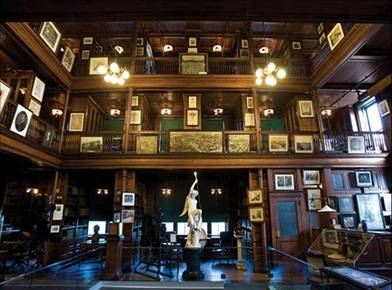 The famed Edison library-home to 10,000 technical books, journals and paraphernalia.