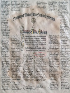 Attached is a photo of the first honorary award given to Thomas Edison in 1929. It hangs to this day in Edison's library-office at West Orange. Notice the circled name, Charlie Chaplin, the great actor and director himself listed as a signatory.
