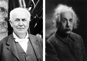 Thomas Edison and Albert Einstein - Fellow Innovators