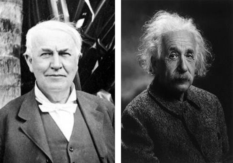 Thomas Edison And Albert Einstein Fellow Innovators