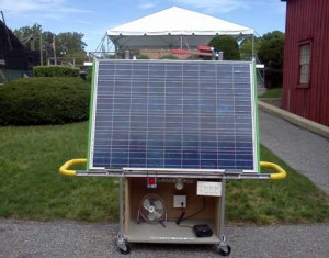 200 watt solar panel display