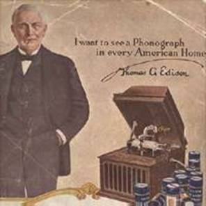 Edison Phonograph Advertisement