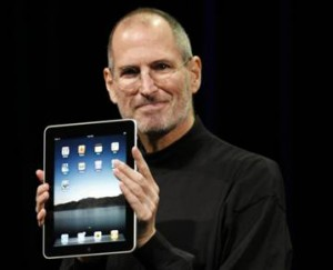 Steve Jobs and the iPad, a celebration of Edison technology incorporated within