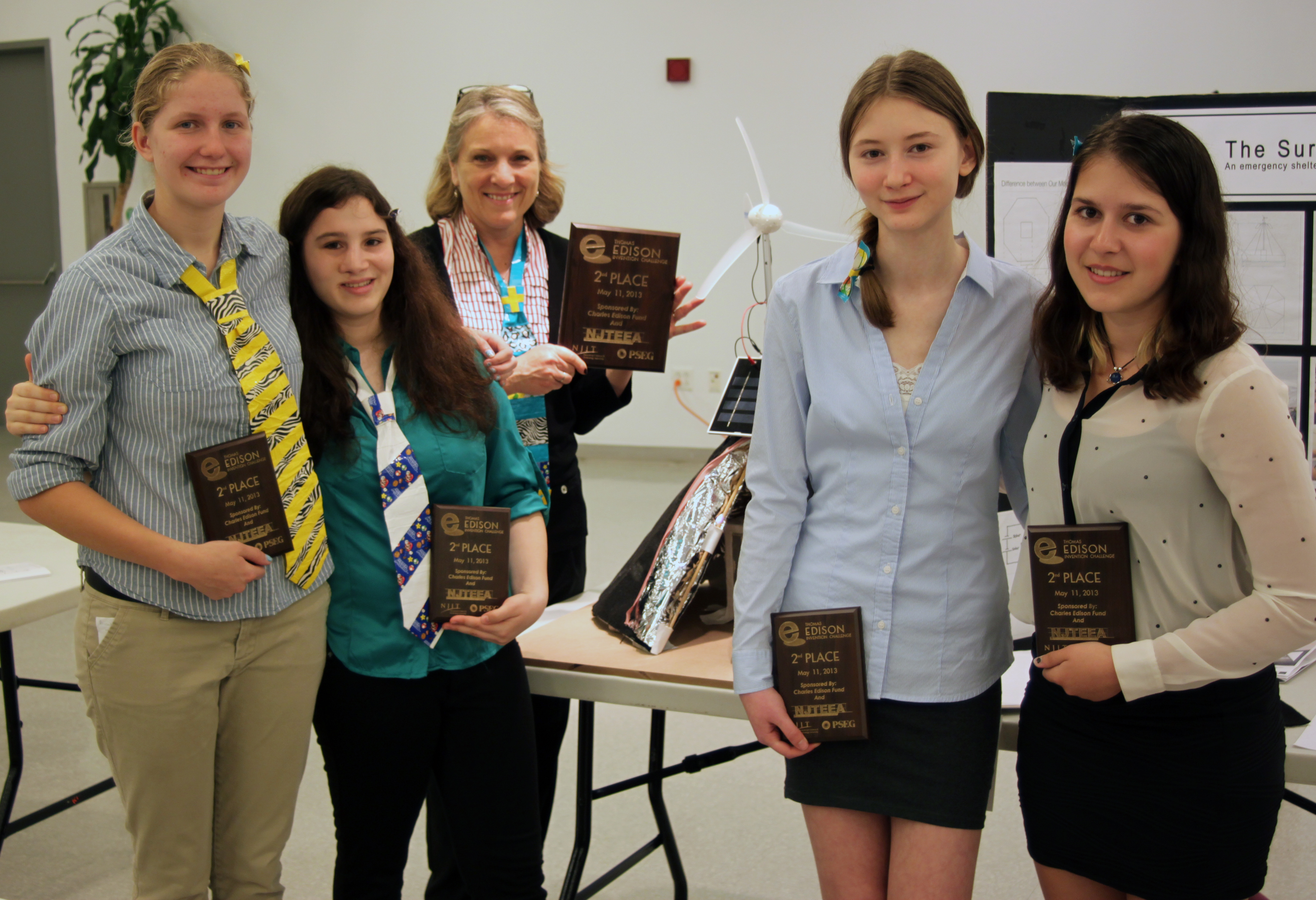 "2nd Place ""Team Tesla"" New Providence HS Invented an emergency shelter for disaster relief"