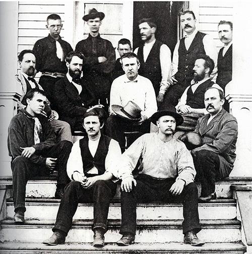 Thomas Alva Edison and his close team members