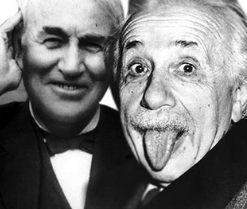 "Edison and Einstein - Take a ""Selfie"" Photo"