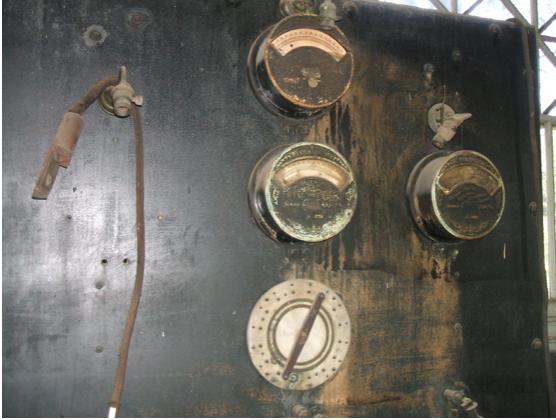 Original Edison electric vehicle charging station in Glenmont garage batteries
