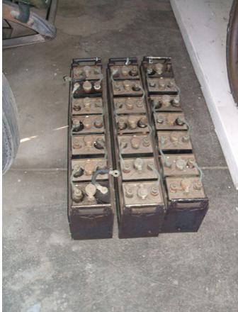 Edison nickel-iron storage batteries