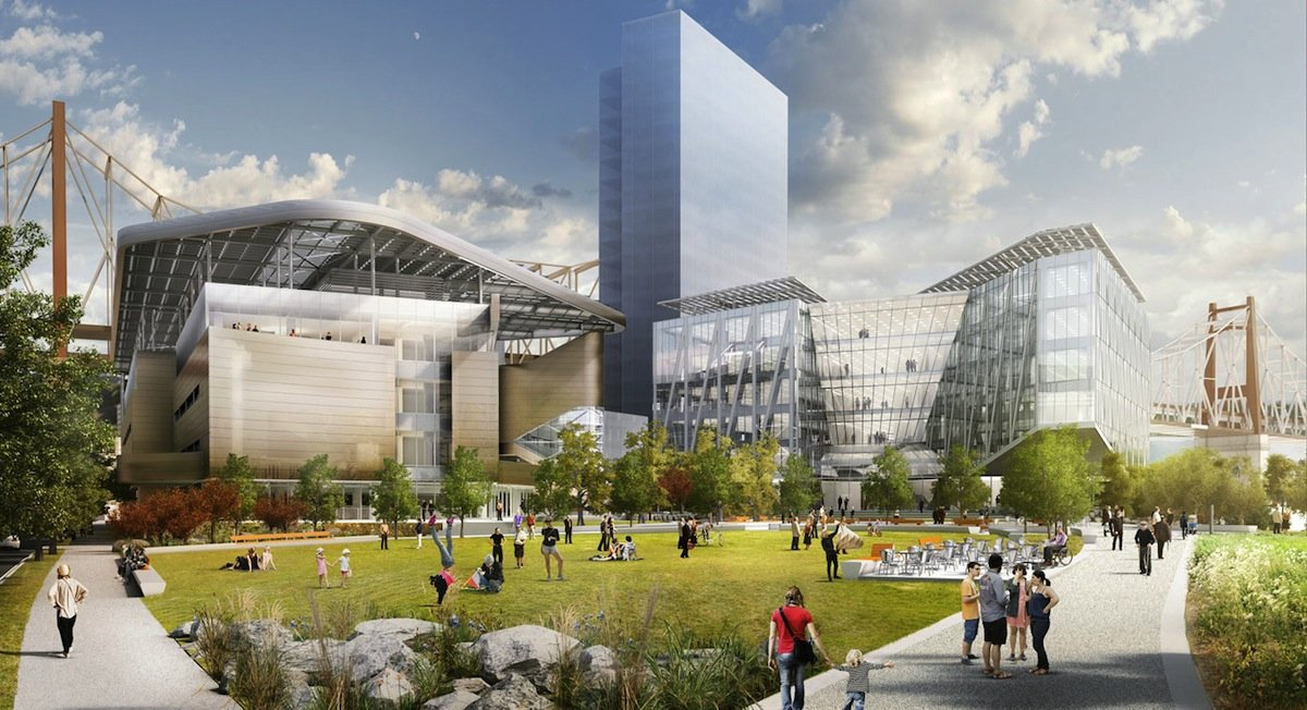 Cornell Tech campus in architectural rendering