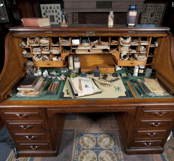 Edison's desk where he managed things