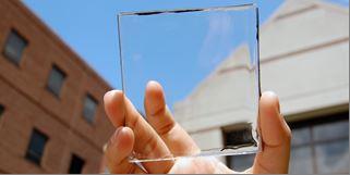 A transparent solar panel