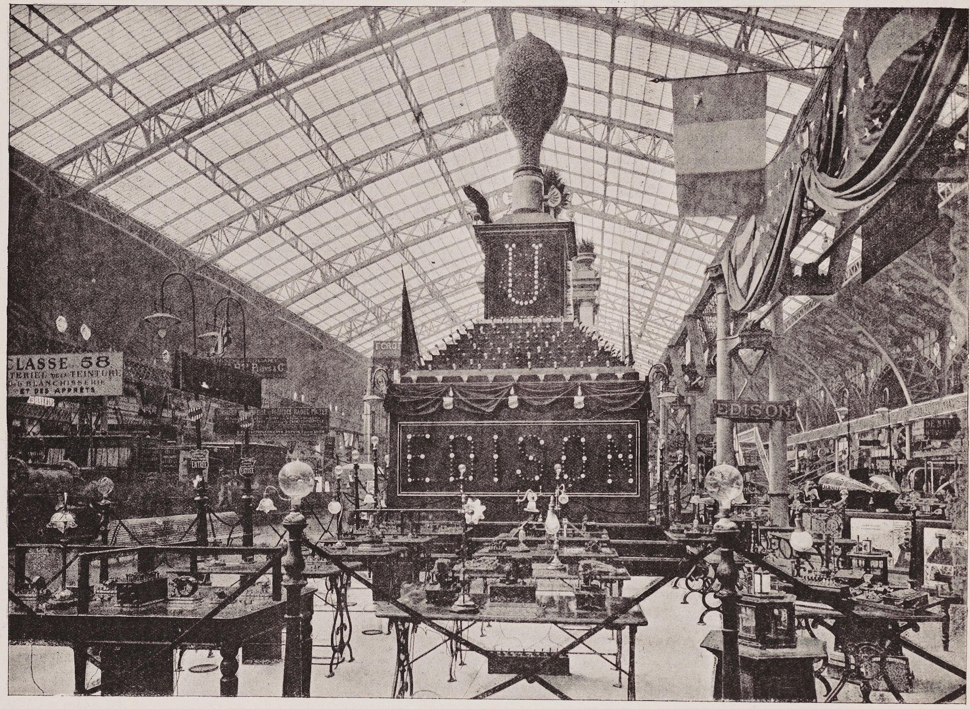 Thomas Edison Paris Exposition Display in 1889