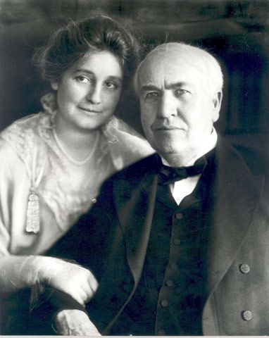 Edison and his lovely wife Mina