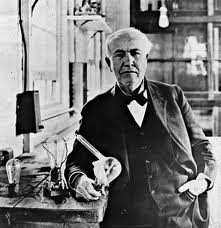 Edison and his Edison Effect device-the forerunner of the vacuum tube, and the taproot of modern electronics