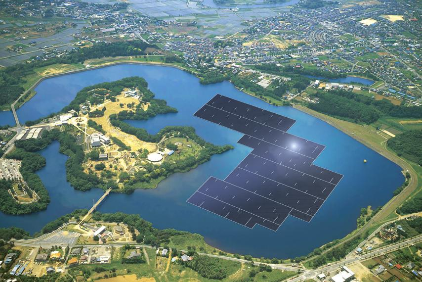 Japanese water based solar station at 13.7 MW