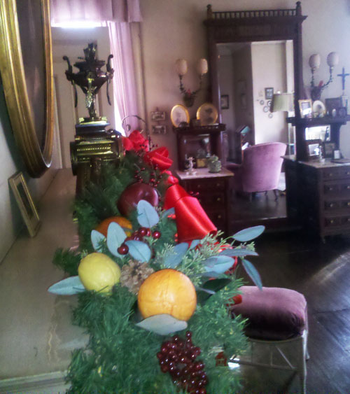 Thomas Edison's Home at Christmas Time