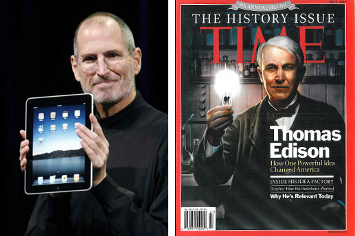 Steve Jobs and Thomas Edison