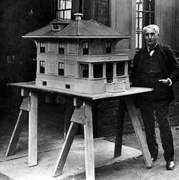 Model of Edison concrete house