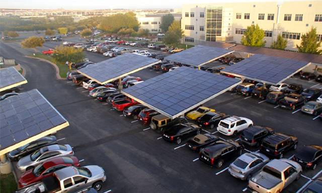 Dell's Parking Lot for Solar Charging of EVs