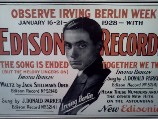 Thomas Edison's ad featuring Irving Berlin