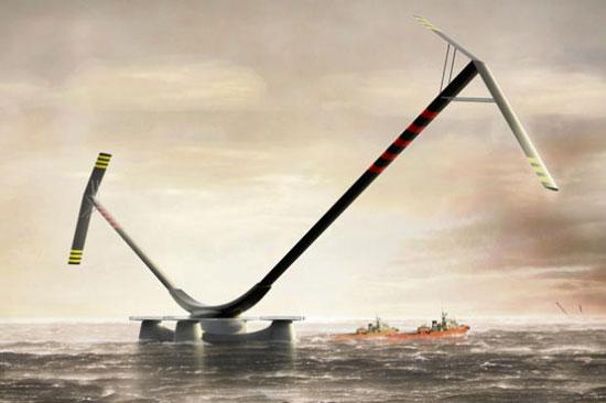 A futuristic offshore VAWT concept