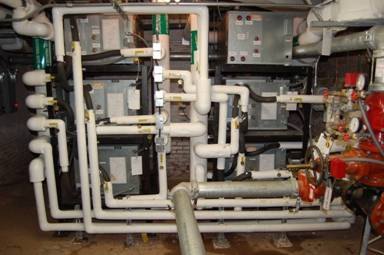 Geothermal Heating System and Heat Pumps in Glenmont Basement