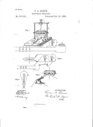 Edison Patent Diagram