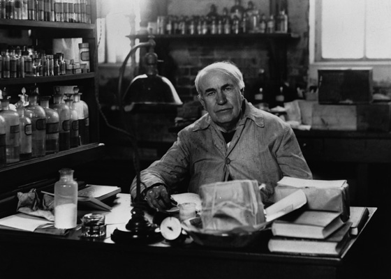 Edison in his beloved chemistry lab
