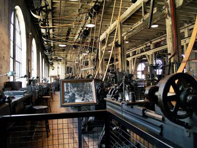 Edison's heavy machine shop-where invention prototypes take shape