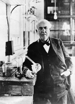 Edison with the First Electronic Patent-a Hybrid Light Bulb Prototype Vacuum Tube