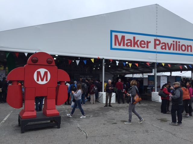 A recent Maker Faire held in New York City with a popular symbol embodying robotic technology.
