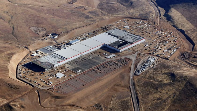 Gigafactory now about 30% complete, located in southern Nevada, will generate 4,000+ jobs.