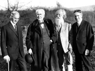 The vagabonds-Henry Ford, Thomas Edison, John Burroughs, and Harvey Firestone
