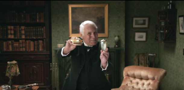 Edison on a Chick-fil-A Commercial