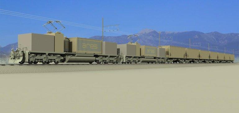 """An ARES """"shuttle train"""""""