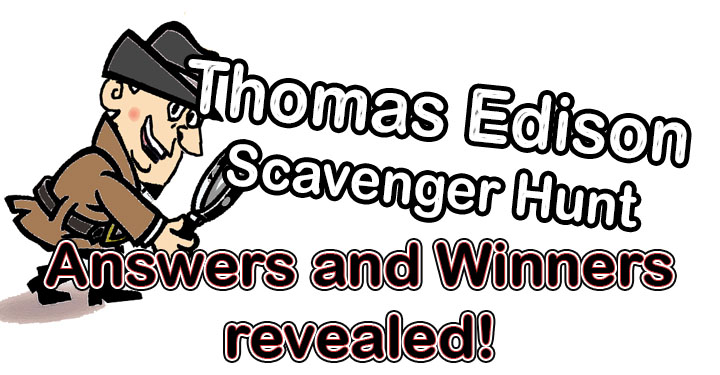 Thomas Edison - Scavenger Hunt Winners
