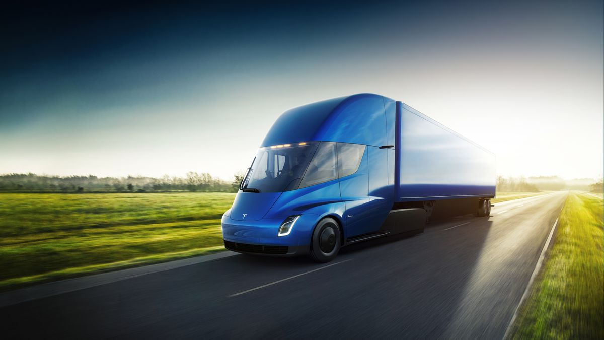 Sleek, futuristic and fast this Tesla semi truck