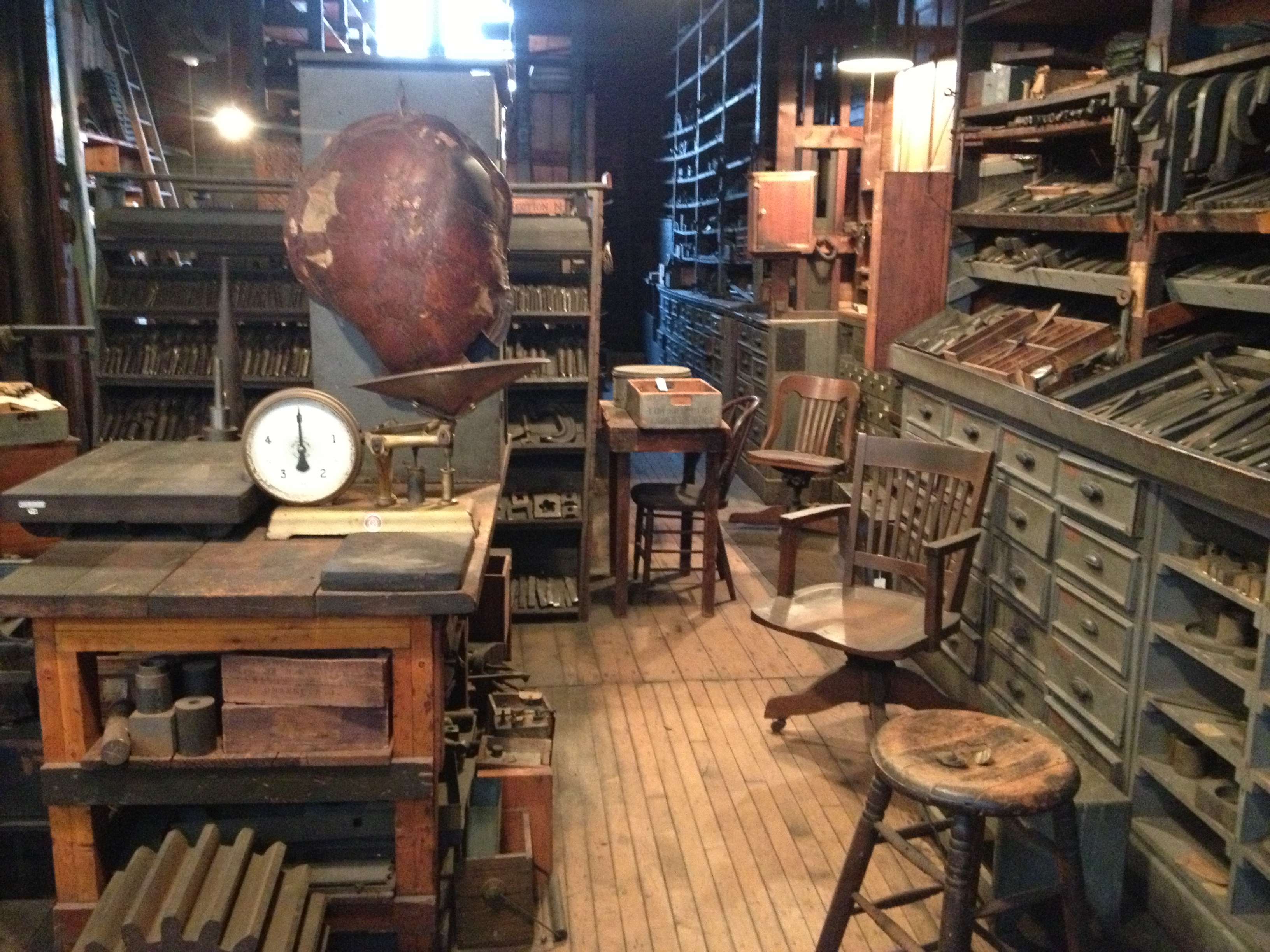 Part of the large storeroom at West Orange