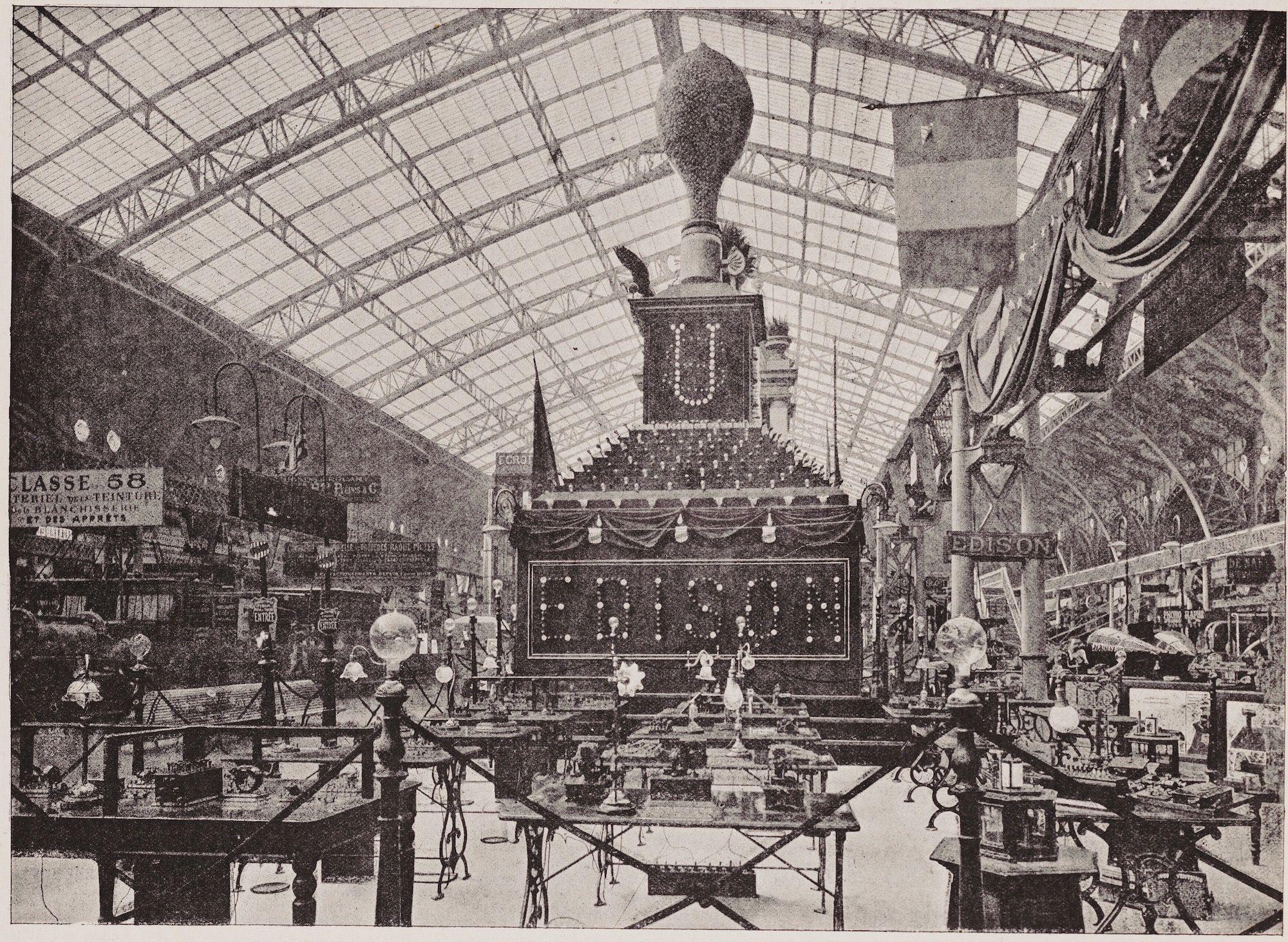 Thomas Edison Paris Exposition Display in 1889