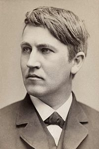Young Tom, 1878, the year of his phonograph patent.