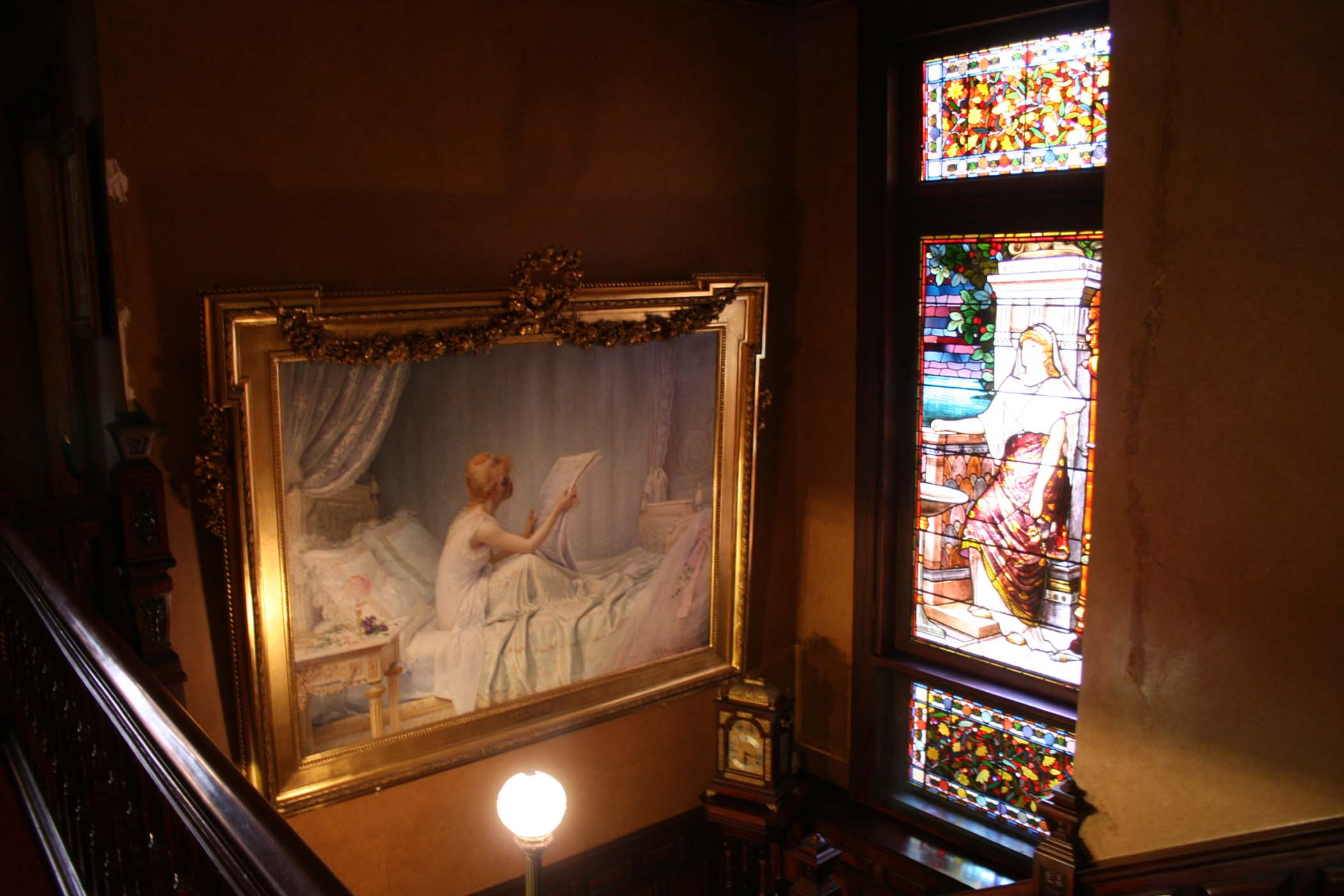 This large painting by Abraham Archibald Anderson was obtained in Paris, and now hangs in the grand staircase of the Edison Glenmont mansion. Mr. Anderson served as a friend and interpreter for Mr. Edison while in Paris.